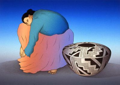 """The Navajo Nation, Storage Jar"" by RC Gorman"