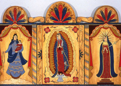 """Queen of Rosary, Lady of Guadalupe, Lady of Sorrows"" by Rosemarie Stuyck"