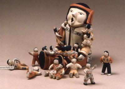 """""""Storyteller w Eight Children"""" by Ada Suina"""
