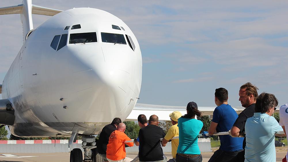 ABQ Sunport Event - 75th Anniversary Plane Pull