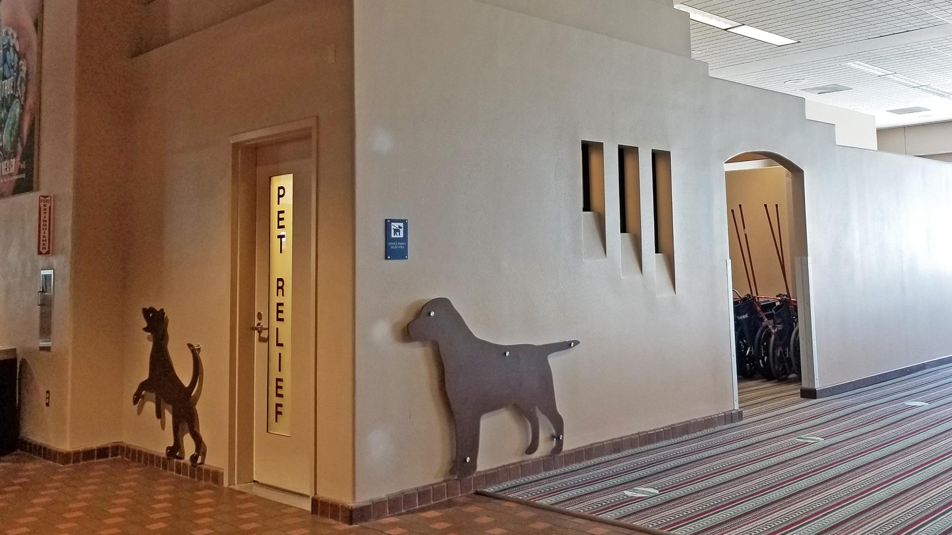 Pet Relief Area - Interior