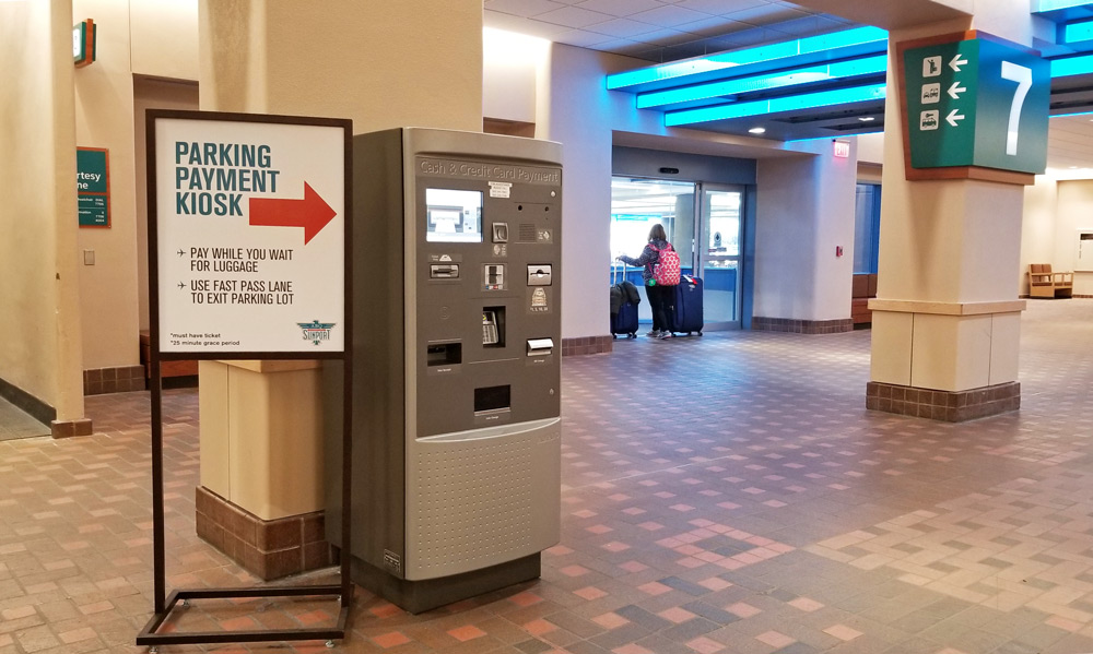 ABQ Sunport Parking Pay on Foot Kiosk
