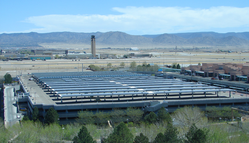 ABQ Sunport Photovoltaic Solar System on Parking Garage
